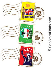 Country's Stamp Set