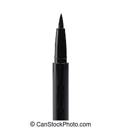 Eyeliner - Eyelinder brush over white