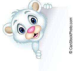 cute little polar bear - vector illustration of cute little...