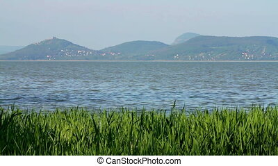 Landscape from lake Balaton Hungary