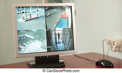 Video Security Monitor - 4-channel video security monitor in...