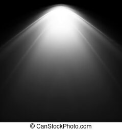 Light Beam From Projector. Vector illustration - White Light...