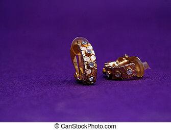 Jewellery on deep purple