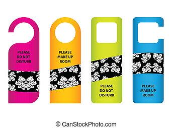 hotel do not disturb door hanger