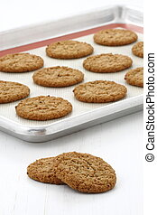 Fresh baked oatmeal cookies - Delicious soft baked oatmeal...