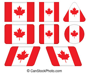 buttons with flag of Canada