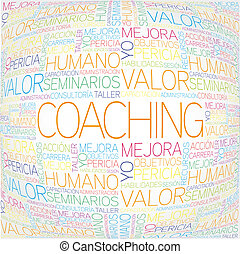 Coaching concept related spanish