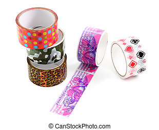 Packing tape with print Masking tape for gift wrapping A set...
