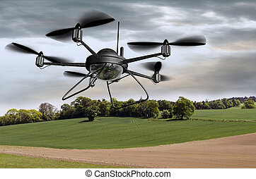 Surveillance Drone - Illustration of a surveillance drone...