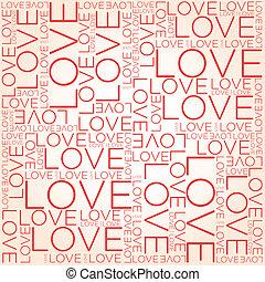 kärlek, ord, collage