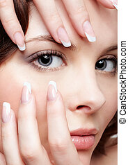 beautiful woman with manicure