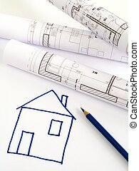 architectural sketch of house plan