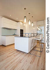 Stylish flat - Small cosy kitchen - Stylish flat - Small and...