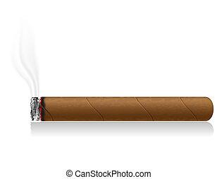 cigarro, abrasador, Ilustración