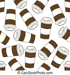 seamless coffee cup pattern