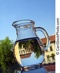 Water in jug - reflection