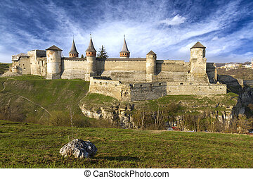 Medieval castle at Kamenets-Podolsky in Ukraine
