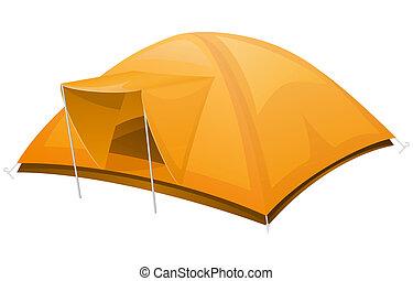 tourist tent illustration