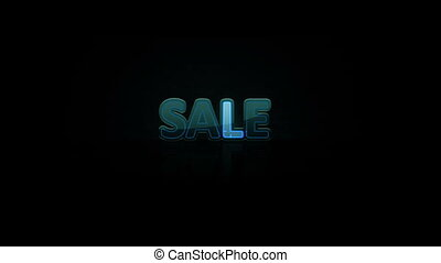 Animated abstract Sale, dynamic digital background, HD 1080p...