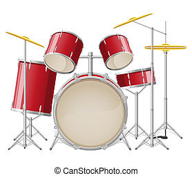 drum set illustration isolated on white background