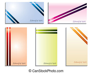 Color stripped business cards - Color stripped business card...
