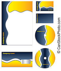 Company vector set with cd
