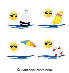 beach icon art vector illustration