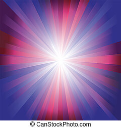Red and blue colour burst. This image is an illustration.