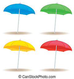 Beach umbrella solid - A collection of beach umbrellas in...