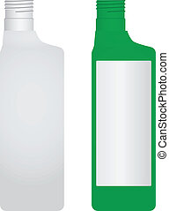Plastic bottle without a lid. Options - painted and...