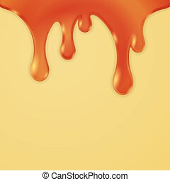 Drips Abstract Background Caramel, Honey Vector Illustration...