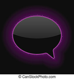 Glowing Speech Bubble Vector Illustration