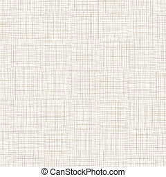 Background With Threads. White Brown Linen. Vector...