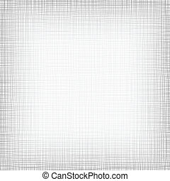 Background With Threads. White Gray Linen. Vector...