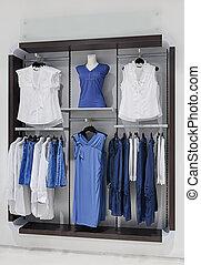 Clothing at shopping mall - Clothing on display at shopping...