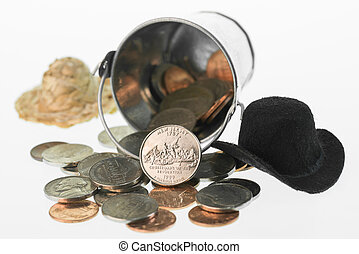 New Jersey coin with bucket and hats - New Jersey State...