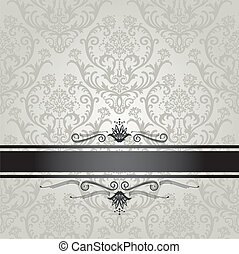 Luxury silver floral wallpaper