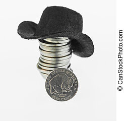American bison nickel and cowboyhat - The American Bison...