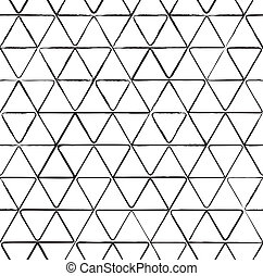 Seamless pattern with ink triangles drawing - Seamless...