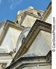 Part of the Cathedral of St. James in Sibenik, Croatia