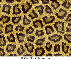 Texture of a short sand color leopard fur