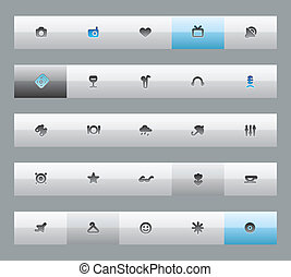 Buttons for entertainment, travel and leisure Vector...