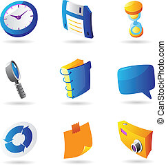 Icons for interface. Vector illustration.