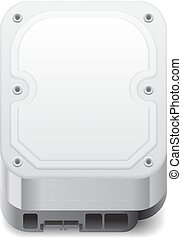 Icon for hard drive. White background. Vector saved as...