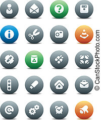 Round buttons miscellaneous - Miscellaneous buttons. Icons...