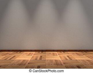 empty room - render of an empty room
