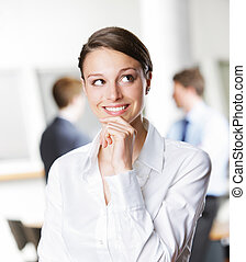 Smiling young business woman - Beautiful young businesswoman...