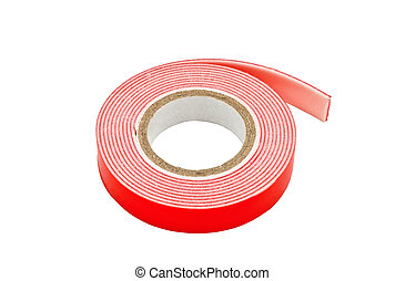 insulating tape - Colored adhesive tape on a white...