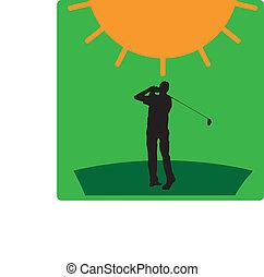 Logo golf sun green