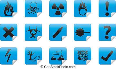 Danger sticker icon